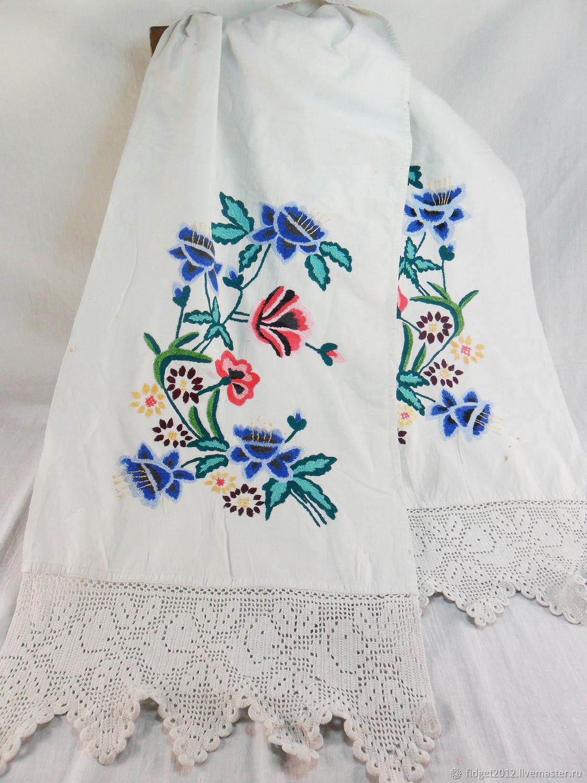 Towel embroidered Vintage towel Vintage embroidered towel 50g, Vintage interior, Bakhmut,  Фото №1
