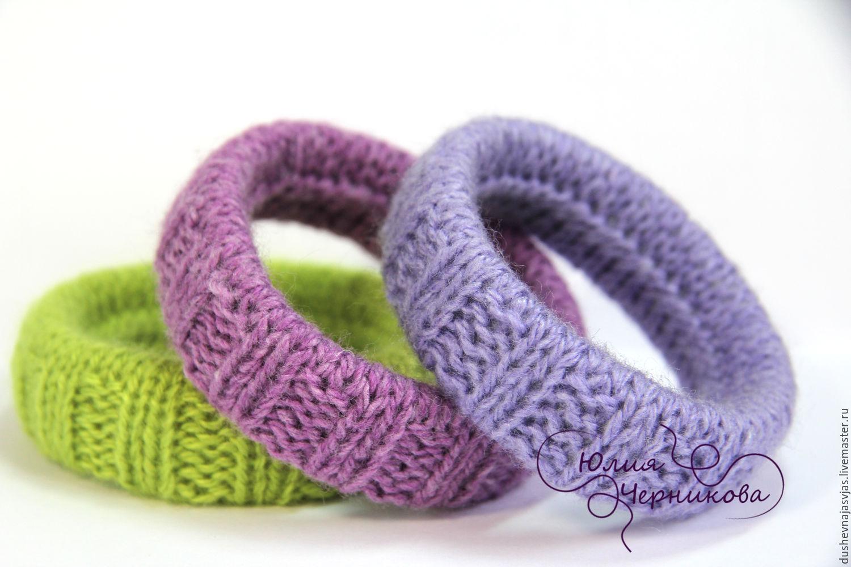 Knit bangles (set of 3 PCs), Bracelet set, Novosibirsk,  Фото №1
