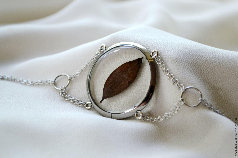 Round transparent bracelet from titanium jewelry resin, Chain bracelet, Samara,  Фото №1