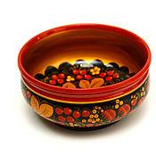 handmade. Livemaster - original item Painted cup D16,5, 8 H, . Deep plate. Handmade.