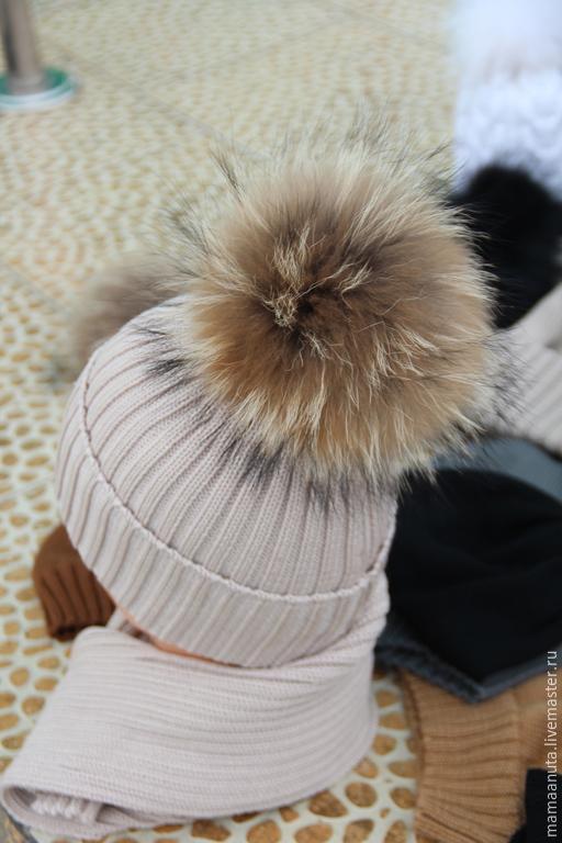 Шапки ручной работы. Ярмарка Мастеров - ручная работа. Купить Зимняя женская шапочка. Handmade. Бежевый, зимняя, шапка для мамы