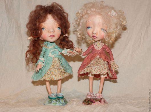 Коллекционные куклы ручной работы. Ярмарка Мастеров - ручная работа. Купить Подружки.. Handmade. Комбинированный, куколка ручной работы