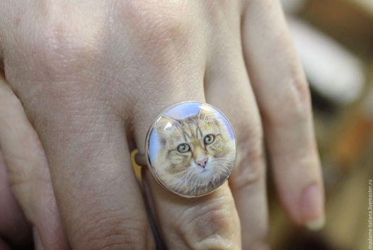 """Кольца ручной работы. Ярмарка Мастеров - ручная работа. Купить Кольцо """"Ваша Киска купила бы...""""   эмаль. Handmade. Эмаль"""