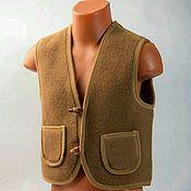 Одежда ручной работы. Ярмарка Мастеров - ручная работа Жилет из верблюжьей шерсти. Handmade.