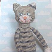 Куклы и игрушки ручной работы. Ярмарка Мастеров - ручная работа Полосатый Серый Кот. Handmade.