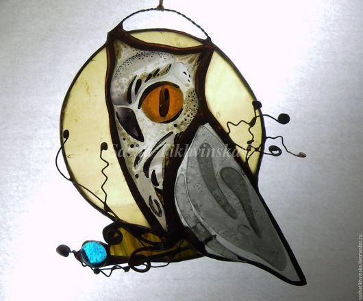 """Подарочные наборы ручной работы. Ярмарка Мастеров - ручная работа. Купить """"Птички""""Филины и совы. Handmade. Комбинированный, подарок из стекла, совы"""