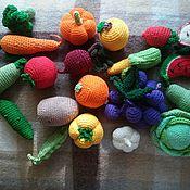 Куклы и игрушки ручной работы. Ярмарка Мастеров - ручная работа вязанные овощи и фрукты. Handmade.