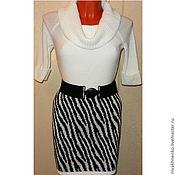 Одежда handmade. Livemaster - original item Skirt knitted Zebra. Handmade.