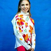 """Одежда ручной работы. Ярмарка Мастеров - ручная работа Свитер  для девочки """"Цветочное настроение"""". Handmade."""