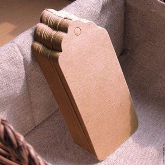 Упаковка ручной работы. Ярмарка Мастеров - ручная работа. Купить Крафт-бирки 5х3 см., 10 шт.. Handmade. Бирка