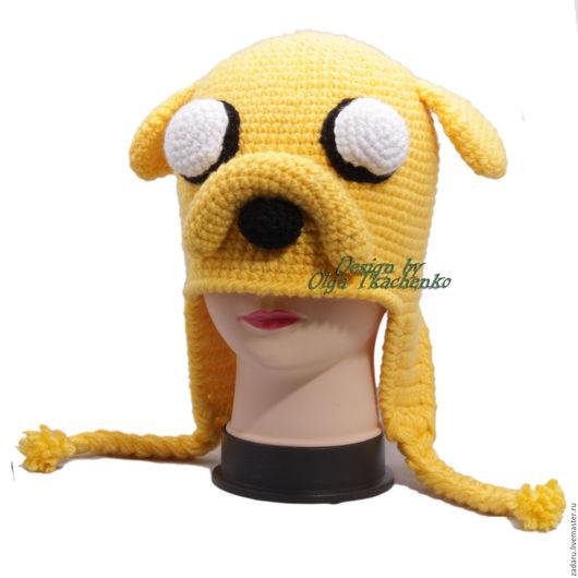 """Шапки ручной работы. Ярмарка Мастеров - ручная работа. Купить Зимняя Шапка Джейка из мультфильма """"Adventure Time"""". Handmade."""