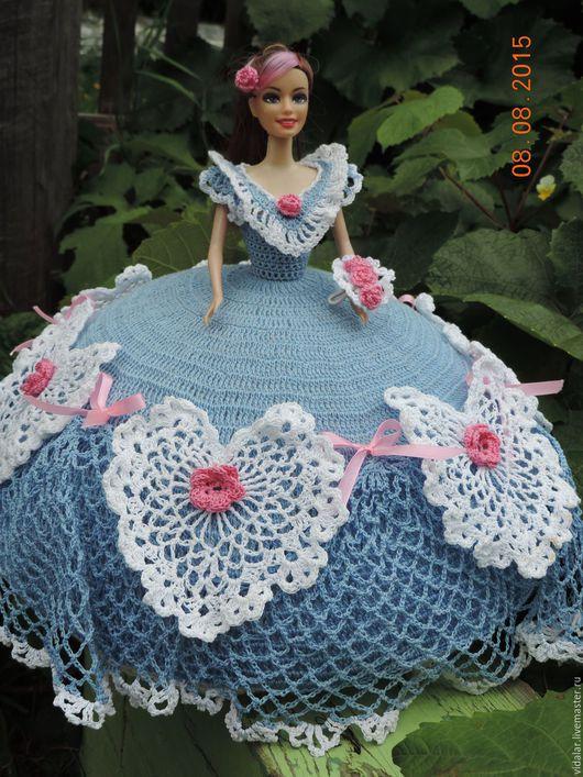 Одежда для кукол ручной работы. Ярмарка Мастеров - ручная работа. Купить Голубое бальное платье. Handmade. Голубой, Вязание крючком