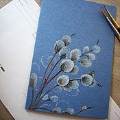 Открытки handmade. Livemaster - original item Card Verbochka (watercolor). Handmade.