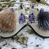 """Обувь ручной работы. Ярмарка Мастеров - ручная работа Валенки, модель """"Сказочная ёлка"""". Handmade."""