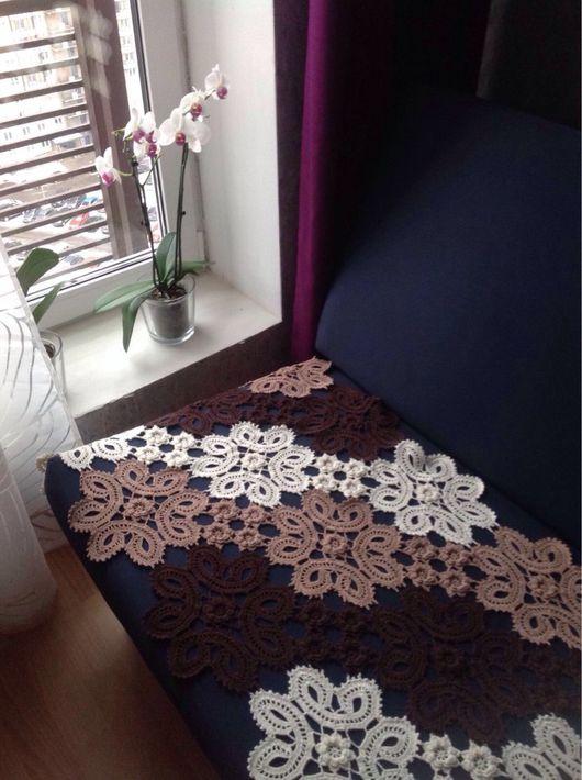 """Текстиль, ковры ручной работы. Ярмарка Мастеров - ручная работа. Купить Покрывало """"Три цвета"""". Handmade. Покрывало, диван"""