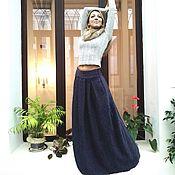 Одежда ручной работы. Ярмарка Мастеров - ручная работа Зимняя юбка в пол из пальтовой шерсти. Handmade.