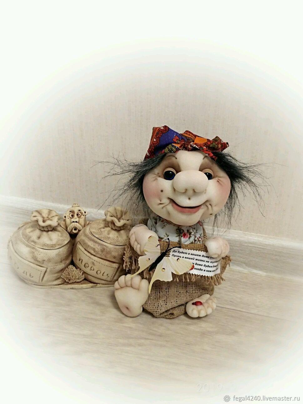 Старушка-Домовушка, сувенир чулочная кукла, Мягкие игрушки, Балахна,  Фото №1