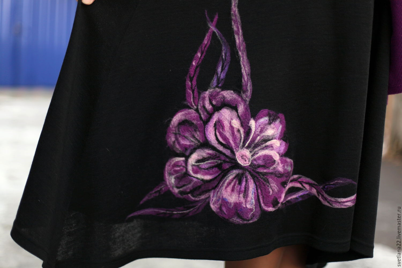 "Knitted dress ""Paintings of flowers"", Dresses, Pavlodar,  Фото №1"