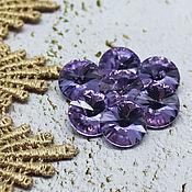 Материалы для творчества handmade. Livemaster - original item Glass rhinestones 12 mm Rivoli lilac. Handmade.