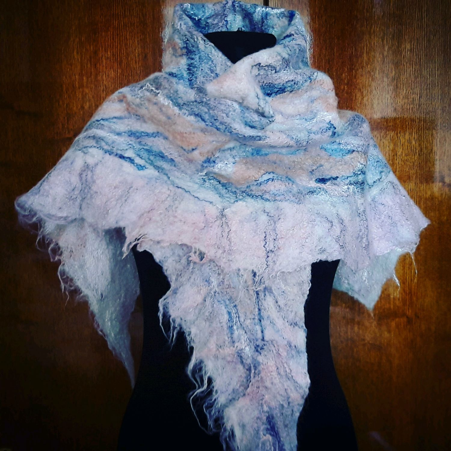 Bactus (kerchief) felted, Shawls1, Moscow,  Фото №1
