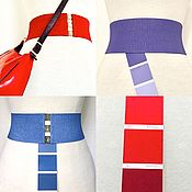 Аксессуары handmade. Livemaster - original item Belts-elastic bands any color on a color fan, the price for height of 60 mm. Handmade.