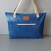 Сумки и аксессуары handmade. Livemaster - original item Tote: Anyven Denim Bag. Handmade.