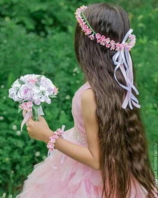 """Свадебные цветы ручной работы. Ярмарка Мастеров - ручная работа. Купить Комплект для фотосессии """"Розовая мечта"""". Handmade. Букет невесты"""