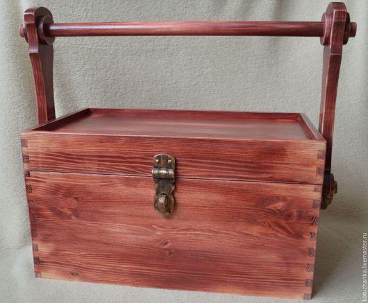 Экстерьер и дача ручной работы. Ярмарка Мастеров - ручная работа. Купить Garden box. Handmade. Бордовый, натуральное дерево