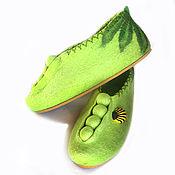 """Обувь ручной работы. Ярмарка Мастеров - ручная работа Валяные домашние тапочки """"Горох"""" сделаю на заказ. Handmade."""