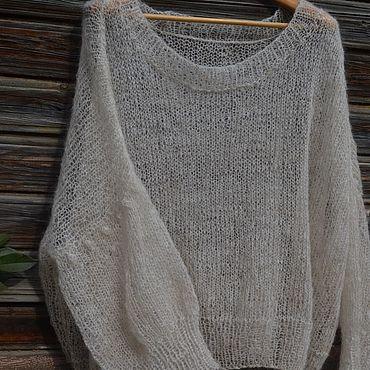 """Одежда ручной работы. Ярмарка Мастеров - ручная работа Пуловер вязаный """"Облако"""". Пуловер из мохера ручной работы. Handmade."""