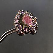 Украшения handmade. Livemaster - original item Ring with natural tourmaline and amethysts. Handmade.