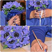 Свадебный салон ручной работы. Ярмарка Мастеров - ручная работа Свадебный букет и брошь с анемонами. Handmade.