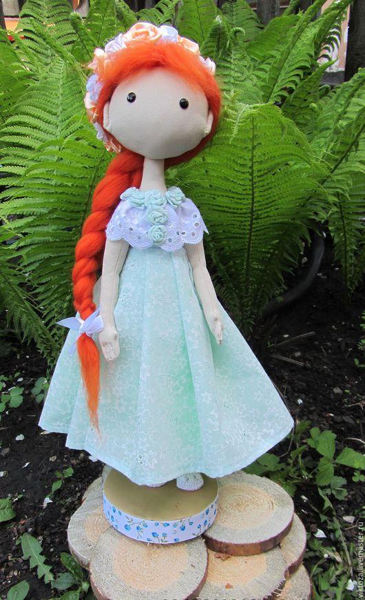 Коллекционные куклы ручной работы. Ярмарка Мастеров - ручная работа. Купить Текстильная кукла. Handmade. Оранжевый, габардин шерсть