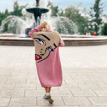 Одежда ручной работы. Ярмарка Мастеров - ручная работа Кардиган Pop art. Handmade.
