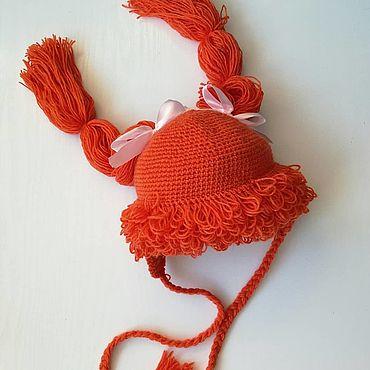 Одежда ручной работы. Ярмарка Мастеров - ручная работа Шапки: шапка в форме прически. Handmade.