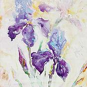 Картины ручной работы. Ярмарка Мастеров - ручная работа Предрассветность-картина на холсте, интерьерная картина. Handmade.