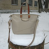 Сумки и аксессуары handmade. Livemaster - original item Classic women`s handbag, color beige. Handmade.