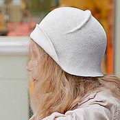Аксессуары handmade. Livemaster - original item The Cloche hat velour. Handmade.