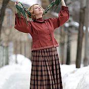 """Одежда ручной работы. Ярмарка Мастеров - ручная работа Юбка и жакет """"Весна Рыжий"""". Handmade."""