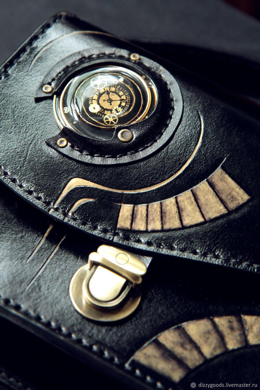 Стильная сумка Спираль Времени из натуральной кожи ручная работа, Классическая сумка, Москва,  Фото №1