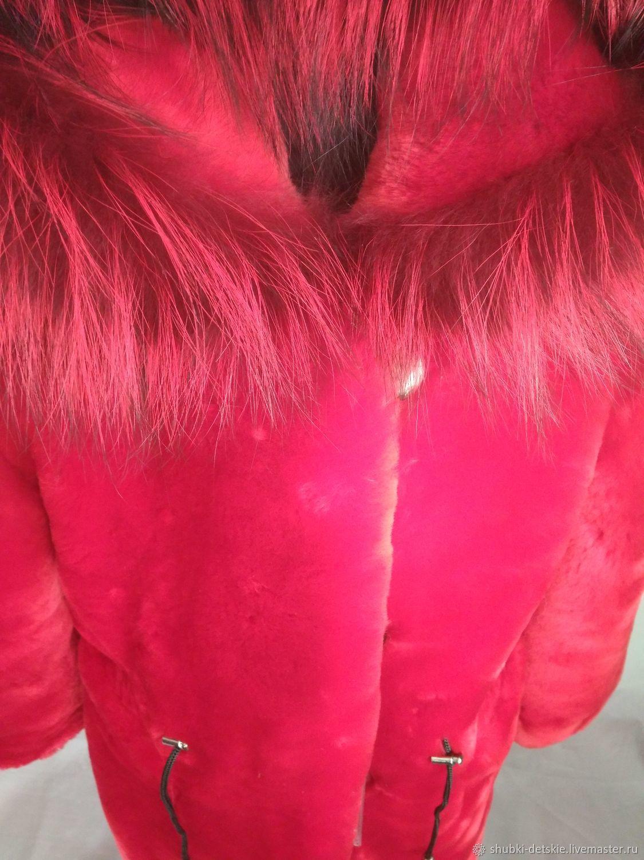 Красная мутоновая шуба