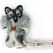 Куклы и игрушки handmade. Livemaster - original item Valyany dog Huskies. A toy from wool.. Handmade.