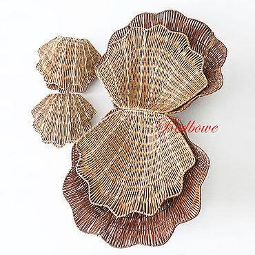 Материалы для творчества ручной работы. Ярмарка Мастеров - ручная работа Корзина-ракушка К179, 4 размера. Handmade.