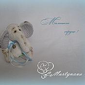 Куклы и игрушки handmade. Livemaster - original item Teddy Elephant Little Heart.Each Teddy Bears.. Handmade.