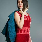Платья ручной работы. Ярмарка Мастеров - ручная работа Платье из шелка и войлока. Handmade.