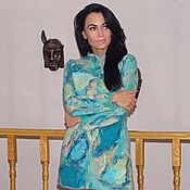 """Одежда ручной работы. Ярмарка Мастеров - ручная работа Пальто валяное """"Многоцветность"""". Handmade."""