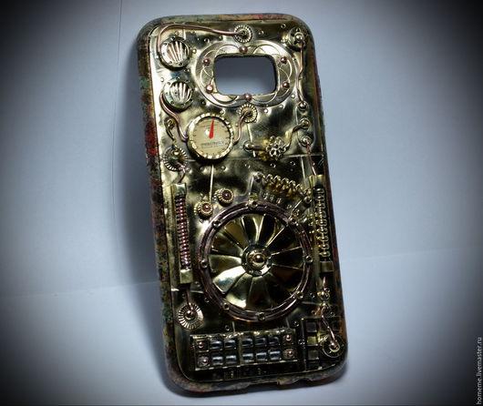 """Персональные подарки ручной работы. Ярмарка Мастеров - ручная работа. Купить Стимпанк чехол для Samsung S7 EDGE  """"Турбина"""". Handmade."""
