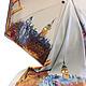 Шали, палантины ручной работы. Ярмарка Мастеров - ручная работа. Купить Шелковый платок батик Лондонский день. Handmade. Разноцветный