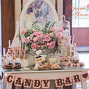 Свадебный салон ручной работы. Ярмарка Мастеров - ручная работа Свадебный сладкий стол. Handmade.