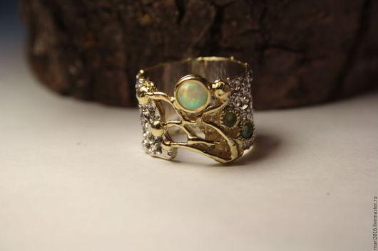 """Кольца ручной работы. Ярмарка Мастеров - ручная работа. Купить Чарующее кольцо """" Наследие """" опал, серебро 925, золото. Handmade."""